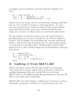 Calling C from MATLAB