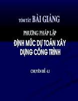 phuong phap lap dinh muc du toan xay dung cong trinh