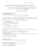 Công thức sinh học THPT