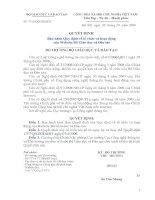 Quyết định ban hành quy định về tổ chức và hoạt động của website Bộ Giáo dục và Đào tạo