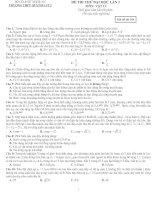 ĐỀ THI THỬ ĐẠI HỌC LẦN 2 MÔN VẬT LÍ TRƯỜNG THPT QUỲNH LƯU 2