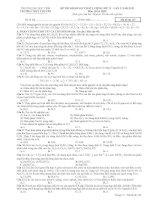 ĐỀ THI KHẢO SÁT CHẤT LƯỢNG LỚP 12 – LẦN 2, NĂM 2013 Môn: HÓA HỌC DH CHUYÊN VINH lần 2, năm 2013