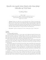 Quyền của người chưa thành niên theo pháp  luật dân sự Việt Nam