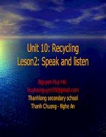 UNIT 10: Speak and listen
