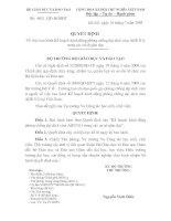 QUYẾT ĐỊNH - Về việc ban hành Kế hoạch hành động phòng chống đại dịch cúm A(H1N1)