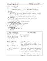 Ôn tập chương I (Đại 10 NC- tiết 12)