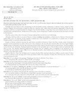 Đề thi và ĐA Tiếng Anh ĐH khối D năm 2009