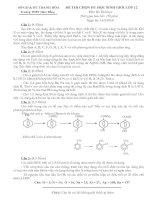đề thi hóa học lớp 12