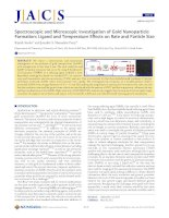Spectroscopic and Microscopic Investigation of Gold NanoparticleFormation: Ligand and Temperature Effects on Rate and Particle Size