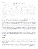 Tiết 40: Vua Lê Thánh Tông
