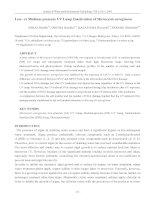Low- or Medium-pressure UV Lamp Inactivation of Microcystis aeruginosa