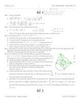 Bộ đề thi toán vào lớp 10
