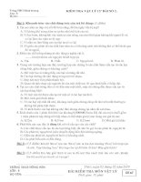 kIỂM TRA 15'''' BÀI SỐ 2