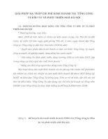 GIẢI PHÁP HẠ THẤP CHI PHÍ KINH DOANH TẠI  TỔNG CÔNG TY ĐẦU TƯ VÀ PHÁT TRIỂN NHÀ HÀ NỘI