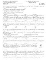 Đề kiểm tra 1 tiết- Trường chuyên Hùng Vương Bình Định