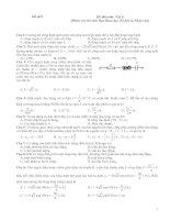Đề thi môn Vật lí, đề số 8 (Dành cho thí sinh Ban Khoa học Xã hội và Nhân văn)