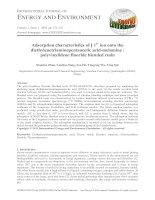 Adsorption characteristics of Ni2+ ion onto the diethylenetriaminepentaacetic acid-melamine / polyvinylidene fluoride blended resin