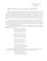 Nhà thơ trào phú Tú Xương và Nguyễn Khuyến