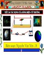 Tiết 24-Bài 22 Tác dụng từ của dòng điện-Từ trường