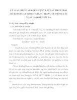 LÝ LUẬN CHUNG VỀ LỢI NHUẬN VÀ SỰ CẦN THIẾT PHẢI MỞ RỘNG HOẠT ĐỘNG TÍN DỤNG TRONG HỆ THỐNG CÁC NGÂN HÀNG Ở NƯỚC TA