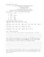 Đề thi HSG toán 5 Tỉnh Quảng trị năm học 2008-2009