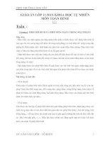 giáo án đại số và giải tích 11 chương 1