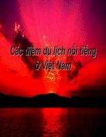 Các điểm du lịch nổi tiếng của Viêt Nam