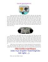 Các bài nghe English 6-9.doc