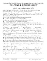 phân loại bài tập vật lý 12 theo đề thi đại học