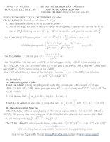 ĐỀ THI THỬ ĐẠI HỌC LẦN I NĂM 2013 TRƯỜNG THPT CÙ HUY CẬN Môn TOÁN, Khối A, A1, B và D
