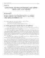 Lập trình căn bản PHẦN 2 GIỚI THIỆU VỀ MỘT NGÔN NGỮ LẬP TRÌNH -NGÔN NGỮ LẬP TRÌNH C