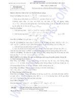 ĐỀ THI THỬ ĐẠI HỌC LẦN II NĂM HỌC 2012-2013 Môn Toán 12 Khối A, B TRƯỜNG THPT CHUYÊN VĨNH PHÚC