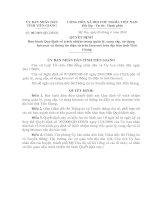 Quyết đinh số 06/2009/QĐ-UBND ngày 09/4/2009 của UBND tỉnh Tiền Giang v/v
