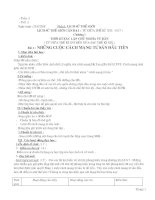 Giáo án Lịch Sử 8 hoàn chỉnh