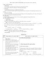 Bài 13: ĐẠI CƯƠNG VỀ POLIME ( TIẾT PHÂN PHỐI CHƯƠNG TRÌNH 20)