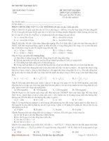 ĐỀ THI THỬ ĐẠI HỌC CAO ĐẲNG MÔN VẬT LÝ ĐỀ SỐ 08