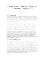 Communicative Language Teaching in a Multimedia Language Lab