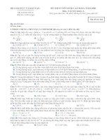 ĐỀ THI TUYỂN SINH CAO ĐẲNG NĂM 2009 Môn: VẬT LÍ; Khối: A mã đề  384