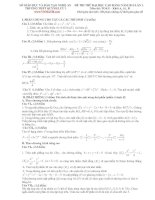 ĐỀ THI THỬ ĐẠI HỌC CAO ĐẲNG NĂM 2013-LẦN 2. Môn thi: TOÁN – Khối A, A1, B