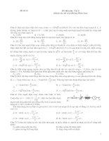 Đề thi môn Vật lí, đề số 14 (Dành cho thí sinh Không Phân ban)
