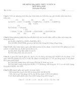 Đề thi thử (1) Hóa học tuyển 10