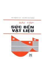 Bài tập sức bền vật liệu - Bùi trọng lựu & Nguyễn Văn Lượng
