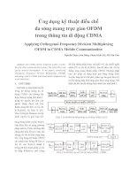 Ứng dụng kỹ thuật điều chế  đa sóng mang trực giao OFDM  trong thông tin di động CDMA