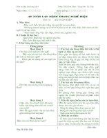 Giáo án Điện dân dụng khối 9;  tiết 1-12