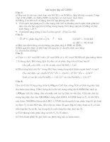 Bài Tập Bồi Dưởng học sinh giỏi hóa Cấp 3