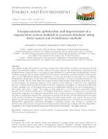 Exergoeconomic optimization and improvement of a cogeneration system modeled in a process simulator using direct search and evolutionary methods