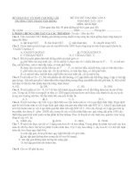 SỞ GIÁO DỤC VÀ ĐÀO TẠO ĐẮK LẮK                 ĐỀ THI THỬ ĐẠI HỌC LẦN 3     TRƯỜNG THPT PHẠM VĂN ĐỒNG                               NĂM HỌC 2012 -2013   MÔN: SINH HỌC