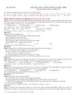 Lời giải chi tiết đề thi đại học môn Hóa khối A, B 2009