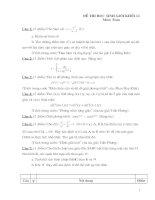 Đề thi HSG lớp 12 có đáp án đề 17