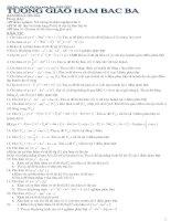 Tương giao hàm bậc 3